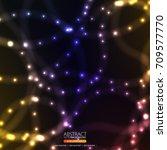 neon abstract background | Shutterstock .eps vector #709577770