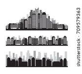 buildings and skyscrapers... | Shutterstock .eps vector #709579363