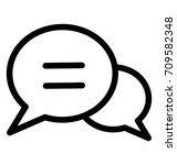 chat bubble line vector icon | Shutterstock .eps vector #709582348
