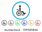 wheelchair rounded icon. vector ... | Shutterstock .eps vector #709585846