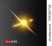 sun or star light flash icon on ... | Shutterstock .eps vector #709589728