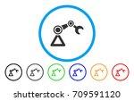 robotics manipulator rounded... | Shutterstock .eps vector #709591120