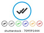 validation rounded icon. vector ... | Shutterstock .eps vector #709591444