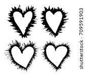grunge heart on a white... | Shutterstock .eps vector #709591903