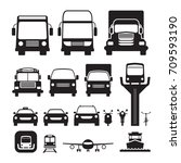 vehicles  cars and... | Shutterstock .eps vector #709593190