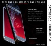 reasons for smartphone failure. ... | Shutterstock .eps vector #709601260