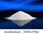 dry chemical powder. could be a ... | Shutterstock . vector #709617946