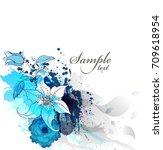 watercolor vector background...   Shutterstock .eps vector #709618954