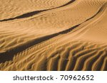 Track Of A Car In The Dessert...