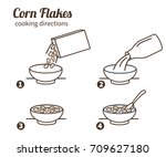 corn flakes cooking directions.... | Shutterstock .eps vector #709627180
