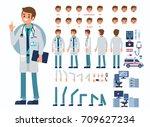 doctor man character... | Shutterstock .eps vector #709627234