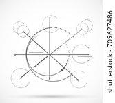geometry sketch scheme sacred...   Shutterstock .eps vector #709627486