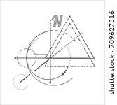 geometry scheme sacred compass...   Shutterstock .eps vector #709627516