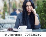 woman happy   sexy. closeup... | Shutterstock . vector #709636360