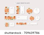 vector paper clothing labels... | Shutterstock .eps vector #709639786