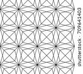 interlocking polygons... | Shutterstock .eps vector #709641403