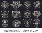 set of vintage custom... | Shutterstock .eps vector #709641769