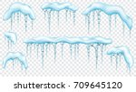 set of snowdrifts with... | Shutterstock .eps vector #709645120