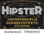 vintage font handcrafted vector ... | Shutterstock .eps vector #709645918