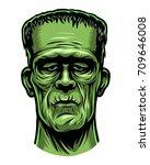 color illustration of monster ... | Shutterstock . vector #709646008