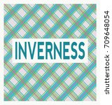 inverness text on a blue  pink... | Shutterstock .eps vector #709648054