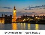 the big ben  the houses of... | Shutterstock . vector #709650019