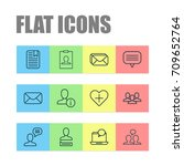 social icons set. collection of ... | Shutterstock .eps vector #709652764