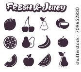 images of juicy fresh fruits.... | Shutterstock .eps vector #709652830