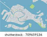 vector city map of venice with... | Shutterstock .eps vector #709659136