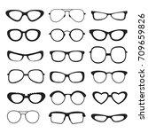 sunglasses silhouette of... | Shutterstock .eps vector #709659826