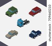 isometric car set of suv ...   Shutterstock .eps vector #709660210