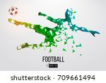 silhouette of a football player.... | Shutterstock .eps vector #709661494