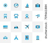 Journey Colorful Icons Set....