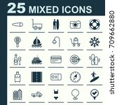 travel icons set. collection of ... | Shutterstock .eps vector #709662880