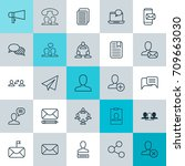network icons set. collection...   Shutterstock .eps vector #709663030