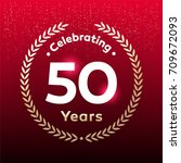 50 years anniversary badge ... | Shutterstock .eps vector #709672093