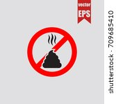 no poop icon in trendy isolated ... | Shutterstock .eps vector #709685410