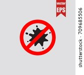 no blot icon in trendy isolated ... | Shutterstock .eps vector #709685506