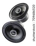 car acoustic speaker isolated...   Shutterstock . vector #709686520