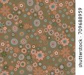 vector flower pattern. colorful ... | Shutterstock .eps vector #709688959
