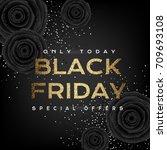 black friday luxury poster.... | Shutterstock .eps vector #709693108