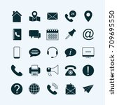 set of contact icons | Shutterstock .eps vector #709695550
