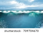 under water and waves | Shutterstock . vector #709704670
