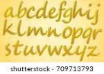 honey style small alphabet... | Shutterstock .eps vector #709713793