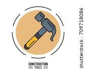 construction tools design | Shutterstock .eps vector #709718086