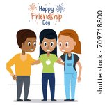 women young men cartoon | Shutterstock .eps vector #709718800