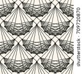 seamless lace knitted pattern.... | Shutterstock .eps vector #709720870