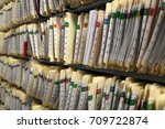 Small photo of Wall of Record Keeping File Folders