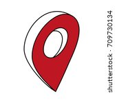 gps location pin icon image | Shutterstock .eps vector #709730134