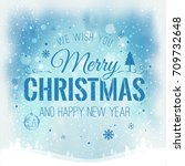 christmas and new year... | Shutterstock .eps vector #709732648